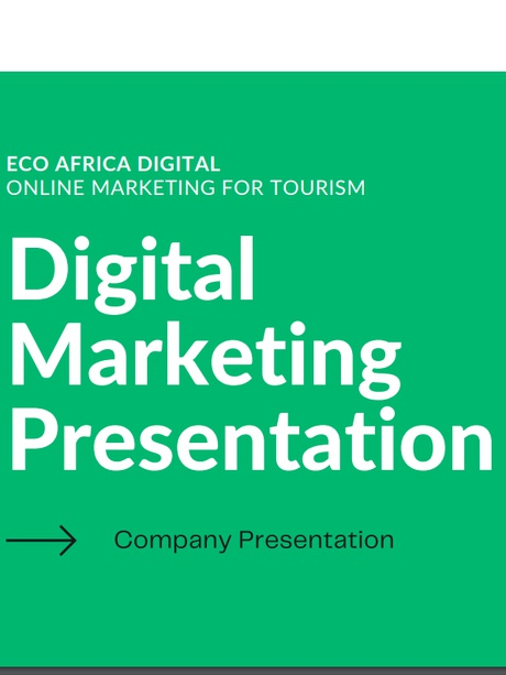 Digital Marketing Company Presentation for Tourism Marketing